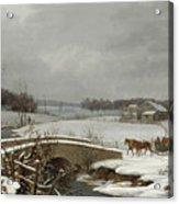 Winter Scene In Pennsylvania Acrylic Print