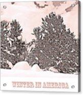 Winter Scene In The Colorado Rockies Acrylic Print