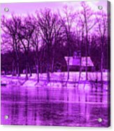 Winter Scene In Violet Acrylic Print