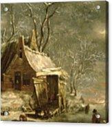 Winter Scene Acrylic Print by Jan Beerstraten