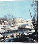 Winter Scene: Morning 1854 Acrylic Print