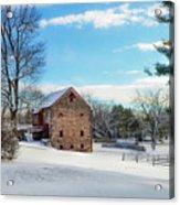 Winter Scene On A Pennsylvania Farm Acrylic Print