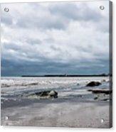 Winter Seascape 2 - Lyme Regis Acrylic Print