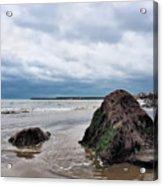 Winter Seascape - Lyme Regis Acrylic Print