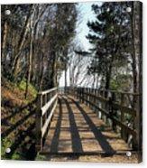 Winter Shadows At The Bridge Acrylic Print