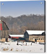 Winter Shed And Barn Acrylic Print