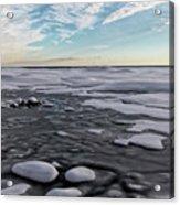 Winter Shoreline Acrylic Print