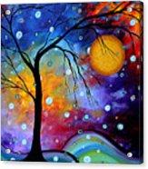 Winter Sparkle By Madart Acrylic Print by Megan Duncanson