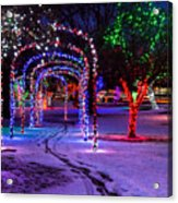 Winter Spirit At Locomotive Park Acrylic Print