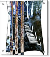 Winter Stairs In Blue Acrylic Print