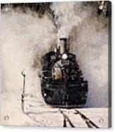 Winter Steam At Rockwood Colorado Acrylic Print