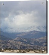 Winter Storm On Desert Mountain Acrylic Print