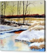 Winter Stream 1107 Acrylic Print