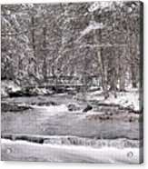 Winter Stream And Woods Acrylic Print