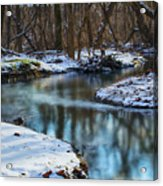 Winter Stream, Pa Acrylic Print