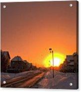 Winter Sun Glow Acrylic Print