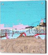The Beach In Winter  Acrylic Print