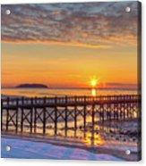 Winter Sunrise At The Beach Acrylic Print