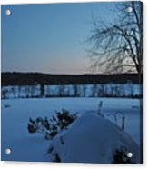 Winter Sunrise On Demond Pond Acrylic Print