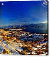 Winter Sunrise On Skaha Acrylic Print
