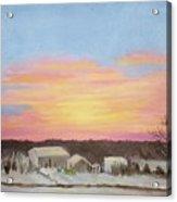 Winter Sunrise On The Farm Acrylic Print