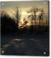 Winter Sunrise Shadows Acrylic Print