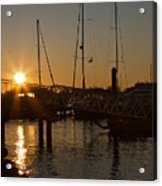 Winter Sunset At Annapolis Harbour Acrylic Print