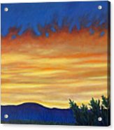 Winter Sunset In El Dorado Acrylic Print