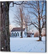 Winter Sunset In New Salem Acrylic Print by Susan Cole Kelly