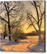 Winter Sunset Acrylic Print by Jaroslaw Grudzinski