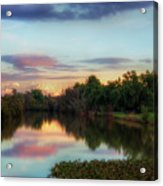 Winter Sunset On The Slough Acrylic Print