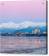 Winter Sunset Over Anchorage, Alaska Acrylic Print