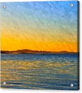 Winter Sunset Over Ipswich Bay Acrylic Print