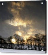 Winter Sunset, Trough Of Bowland, England Acrylic Print