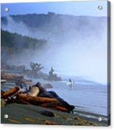 Winter Surf On Vancouver Island Acrylic Print