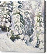 Winter Tale Acrylic Print by Aleksandr Alekseevich Borisov