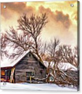 Winter Thoughts 2 - Paint Acrylic Print
