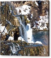 Winter Time At The Falls Acrylic Print