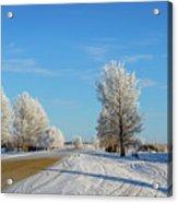 Winter In Saskatchewan Acrylic Print