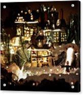 Winter Village Acrylic Print