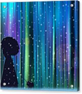 Winter Walk In The Magical Forest Acrylic Print