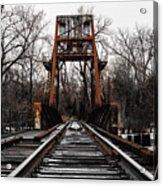 Winter Walk - Orange Acrylic Print