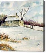 Winter Washday Acrylic Print