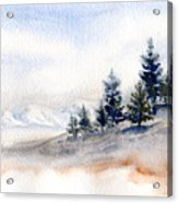 Winter Watercolor Painting Acrylic Print