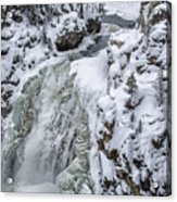 Winter Waterfall Acrylic Print