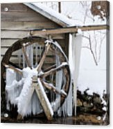 Winter Wheel Acrylic Print