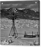 Winter Windmill Acrylic Print