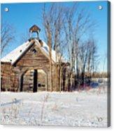 Winter Wisconsin Barn Acrylic Print