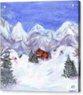 Winter Wonderland - Www.jennifer-d-art.com Acrylic Print