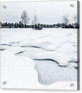 Winter Wonderland Bw Acrylic Print
